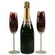 Champagnepakket gegraveerd als huwelijkskado. Prachtig om kado te geven en kado te krijgen.