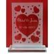 Glasbokaal Leo gegraveerd als Valentijnscadeau.