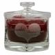 Snoeppot Bubble gegraveerd met hart als huwelijksbedankje. Een prachtig kado om de ceremoniemeester of getuigen mee te bedanken.