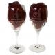 Wijnglazen van het merk schott zwiesel. Deze glazen uit de mondial serie zijn gegraveerd als kado voor 35 jarig huwelijk.