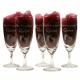 Lovely small champagneglazen gegraveerd als kraamcadeau