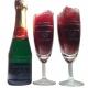 Mini champagnepakket gegraveerd als huwelijksbedankje voor de ceremoniemeester