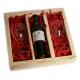 Wijnpakket met glazen als huwelijkscadeau