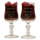 Normandie wijnglazen gegraveerd als huwelijkskado