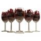 Standaard rode wijnglazen gegraveerd met bedrijslogo