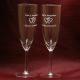 Standaard champagneglazen gegraveerd als cadeau voor een 50 jarig huwelijk