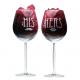 Diva rode wijnglas gegraveerd als Valentijnskado