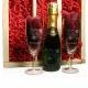 Mini champagnepakket gegraveerd als valentijnscadeau