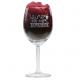 Standaard rode wijnglas gegraveerd als Valentijnscadeau voor haar