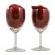 Lovely small wijnglazen gegraveerd als bedankjes