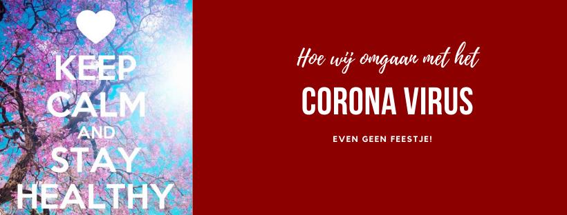 Het coronavirus en je bestelling